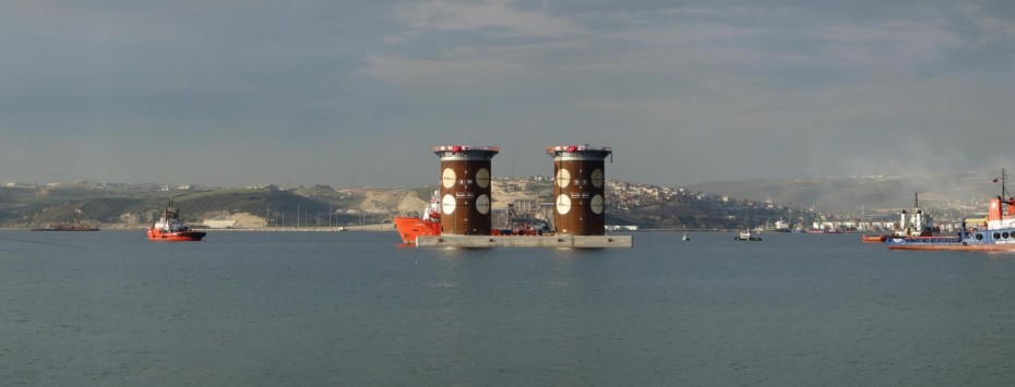 Positioning, Izmit bay caissons